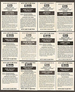 1972 THE SUN 3D GALLERY OF FOOTBALL ACTION CARDS / HOW TO PLAY - PICK A CARD