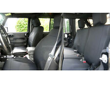 Jeep Wrangler 2007-10 Unlimited JK Custom Neoprene FULL Seat Cover Black yes4d