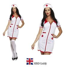 ADULT SEXY NURSE Fancy Dress Costume Naughty Hen Party Ladies Uniform Outfit UK