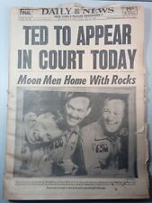 Ted Kennedy To Appear In Court Today NYC Daily Newspaper 1969 Chappaquiddick