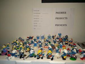 Vintage smurfs figures lot 1970s 1980s 51 peyo / schleich mix some rare VG/EX 🤩