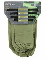 Exped Waterproof Fold Olive Dry Bags [4 Pack] Lightweight Fishing Camping Sacks