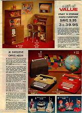 1978 ADVERTISEMENT Desk Set Batman Joker Stapler Sharpener Typewriter Tom Thumb