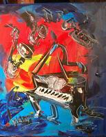 MUSIC  JAZZ CREATED  BY MARK KAZAV  Modern  Original Oil Abstract jio[oi