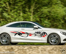 Exterior Accessories Tribal Dragon Racing Car Vinyl Side Graphics Both Sides Vinyl Sticker Decal 78
