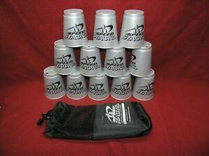 SPEED STACKS Set 12 Grey cups w/ Mesh storage bag