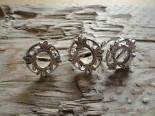 4 Leaf Ring Silver Plt Adj 10x12 4 Prong (Pkg 3) 0004A