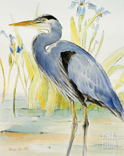 Great Blue Heron Art Poster Print by Lanie Loreth, 16x20