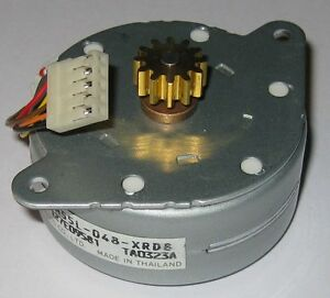 NMB Stepper Motor with Brass Gear - 24V - PM55L-048 - Permanent Magnet Motor