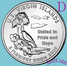 2009-D US VIRGIN ISLANDS QUARTER U.S. TERRITORIES UNCIRCULATED FROM U.S. MINT