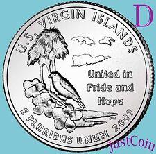 2009-D US VIRGIN ISLANDS QUARTER U.S. TERRITORIES UNCIRCULATED FROM U.S. MINT