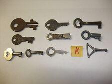 K Konvolut alte antike Schlüssel f Schatullen Kästchen Vitrinen kleine Schlösser
