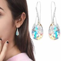 Aurora Tears Drop Dangle Made with Swarovski Element Crystals Luxury Earrings