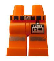 Lego Beine in orange für Minifiguren Gürtel Emmet Aufdruck 970c00pb0897 Neu