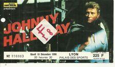 RARE / BILLET TICKET DE CONCERT - JOHNNY HALLYDAY : LIVE A LYON ( FRANCE ) 1990