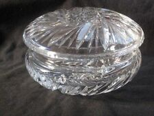 Glas Kristallglas Schleuderstern Deckeldose Dose 2tlg TOP !*!