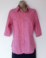 LADIES THOMAS PINK SHIRT SZ 10 IN EXCELLENT CONDITION! PINK, STRIPED