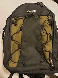 Canon Deluxe Camera Backpack Black & Olive Green Bag NWOT