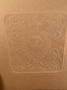 Vtg replacement Tooled Leather style Fancy Leafy pattern Seat Cover Vict Chair