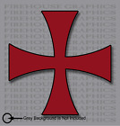 Knights Templar Red Cross Seal Catholic Christian Mason sticker decal