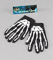Bone Print Adult Kids Unisex Skeleton Gloves Halloween Fancy Dress Accessory