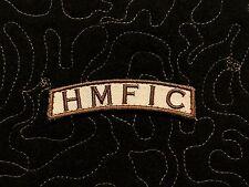 HMFIC AOR1 Desert tab patch Velcro® backing rocker army morale patch
