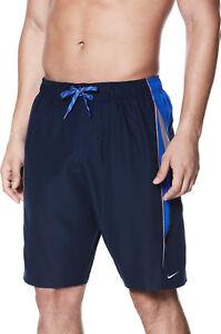 Nike 9 Inch Swim Volley Shorts Mens Sizes: S, XXL Navy/Blue/Grey NESS8402 489