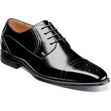 Stacy Adams Men's Powell Oxfords Black Leather Cap Toe dress Shoes 25246-001
