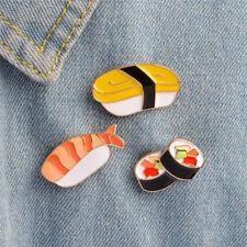3PCS/Set Enamel Japanese Food Sushi Brooch Pins Shirt Collar Badges Pin JeweGT