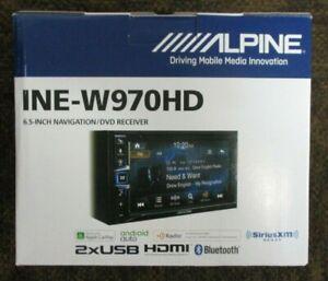 NEW ALPINE INE-W970HD AUDIO VIDEO NAV BT MEDIA PLAYER APPLE CARPLAY ANDROID AUTO