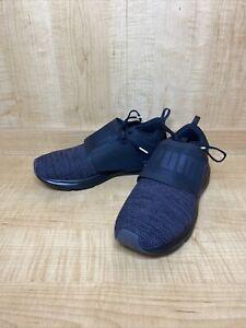 PUMA Enzo Strap Knit Men's US Size 9 Black/Black/Grey