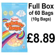 BOX COMPLETO DI 60 Swizzels Rainbow GOCCE 10 G Sacchetti Festa Dolcetti GRATIS P&P solo £ 8.89