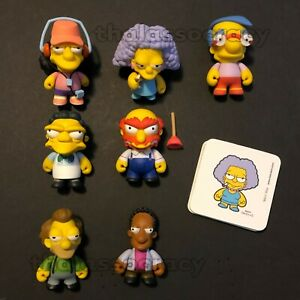 "Kidrobot The Simpsons Lenny /& Carl  3/"" Vinyl Figures Series 2 With Sticker"