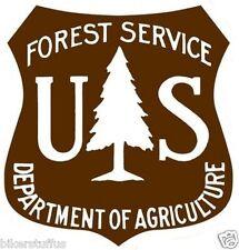 US FOREST SERVICE SHIELD STICKER BUMPER STICKER BROWN LAPTOP STICKER WINDOW