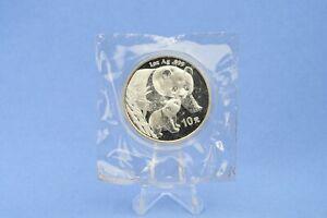 China 10 Yuan 2004 Panda  1 oz  Silber *St/Bu * gekapselt  in Folie