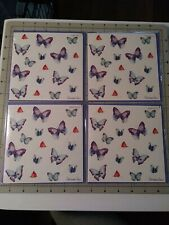 Papyrus Jeweled Sparkle Butterflies Cards 4 count blank inside