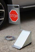 CALE ROUE avec panneau STOP pour camion voiture remorque, trés haute qualitée