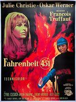 Plakat Montiert Fahrenheit 451 Oskar Werner François Truffaut 120x160cm