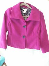 Woman's Fuscia Winter Jacket by Laura Ashley Petite Size PM Polyester Blend NWT