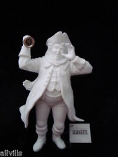 TOWN CRIER BELL RINGER #78000 NEW BOXED WHTE BISQUE WINTER SILHOUETTE  DEPT 56