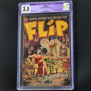 Flip #1 (Harvey 1954) 💥 CGC 3.5 Restored 💥 Hanging Cover! Aladdin Parody Comic