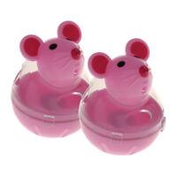 2 Stücke Kunststoff Tumbler Hund Katze Feeder Spielzeug Maus Form Treat