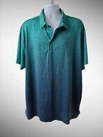 IZOD Golf Men's 2XL Short Sleeve Polo Shirt Green Stretch Polyester