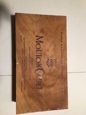 WINE CRATE VINTAGE Box Mouton Cadet Box Nice Size Clean Rustic Storage  #297