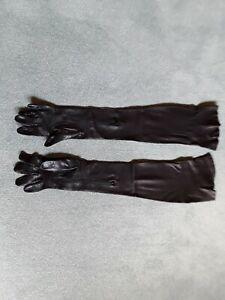 Damen armlange Lederhandschuhe Gr. 8