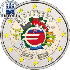 Eslovaquia 2 euro 2012 BFR. 10 años euro efectivo en color