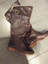 Coach brown leather full length boots size 5