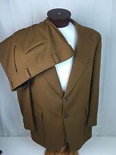 Vtg Hart Schaffner Marx Jack Nicklaus Golf Brown Two Button 2 Piece Suit Sz 44R