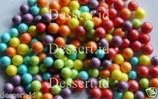 MULTICOLOUR  - Edible sugar balls, pearls, 30 grams, (over200), 6 mm dia