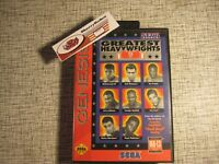Greatest Heavyweights Boxing Sega Genesis Sports Game Boxed